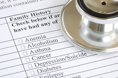 Remplissez la section antécédents familiaux dans le questionnaire médical  Banque d'images - 7277114