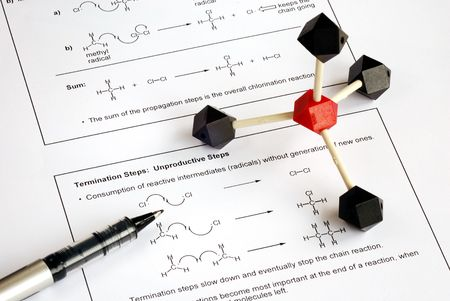 Working on the college level Organic Chemistry  photo