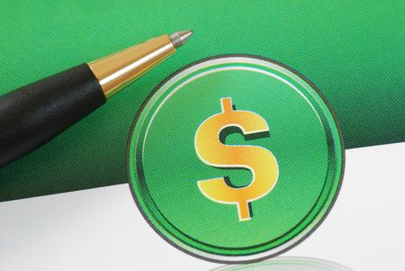 Dollar sign concepts of investing, profits, and wealth Stock Photo - 7393616