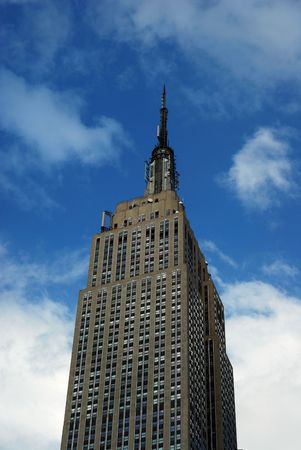 Empire State Building in New York City with a blue sky Stock Photo - 7453546