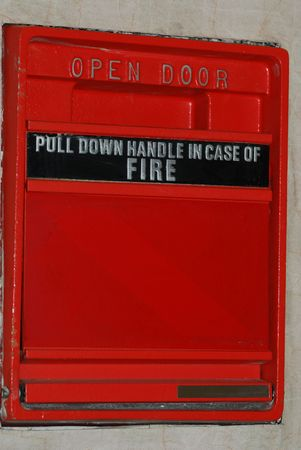 An old fire alarm photo