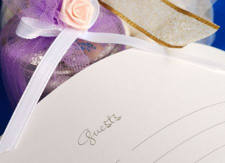 log book: Sign the wedding guest book