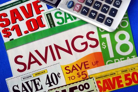 Cut up some coupons to save money Stock Photo - 7493757