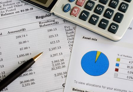 Check the monthly account statement and balance the portfolio photo