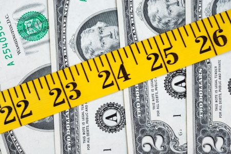 The cost to get fitness and healthy (24 inches is the perfect size for waist) Stock Photo - 7493903
