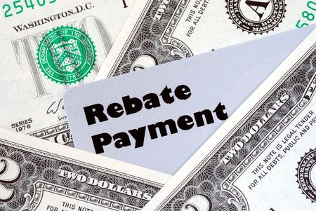 obtain: Obtain the rebate payment from a purchase