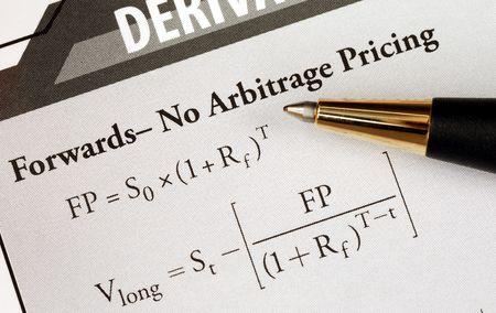 Study an advanced level financial mathematical formula photo
