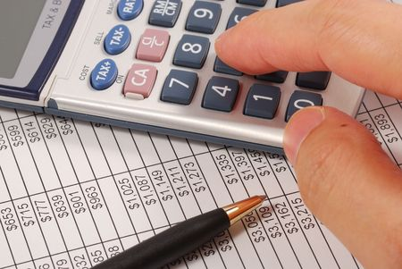 Calculate the amount of money needed for retirement Stock Photo - 7541317