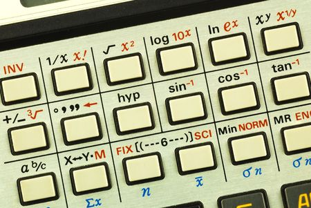 tangent: Function keys in a scientific calculator concepts of education and science advancement
