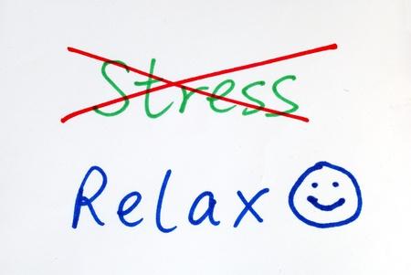 No más estrés, get algunos relajan con una sonrisa feliz