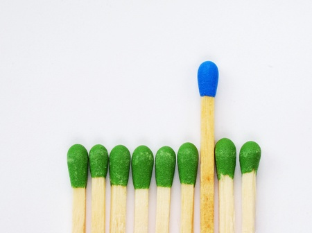 A standout match from others concept of leadership photo