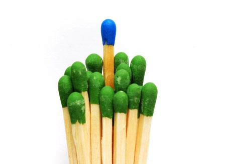A standout match from others concept of leadership Stock Photo