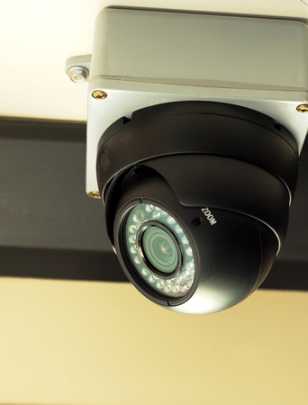 close circuit camera: Security  surveillance camera concepts of safety, security and risk Stock Photo