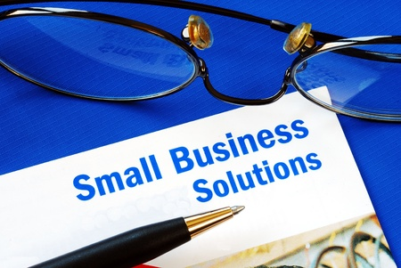 Provide financial solutions and support to Small Business Stock Photo