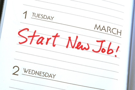 new beginning: Start a new job concepts of new employment