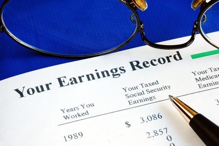 seguridad social: Inspeccione la Seguridad Social ganar conceptos informe de la pensión de jubilación
