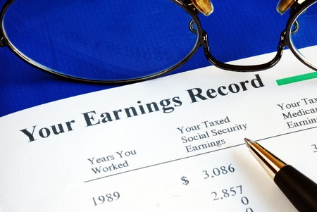 monthly salary: Inspect the Social Security earning report concepts of retirement pension