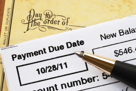 delincuencia: El pago de la factura de la tarjeta de cr�dito en concepto de tiempo de la salud financiera