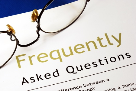 Check out the Frequently Asked Questions (FAQ) section Stock Photo - 11532110