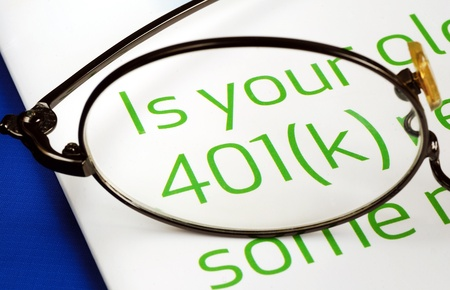Focus on the investment in the 401K plan concept of finance and retirement Stock Photo - 11532111