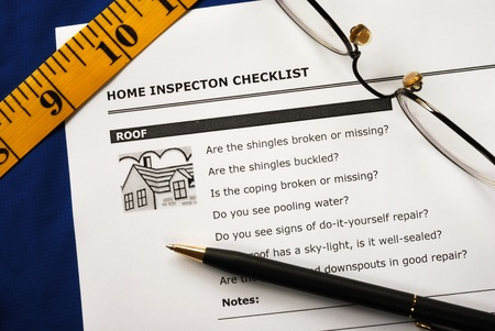 Checklist from the Real Estate Inspection Report Stock Photo - 11520912