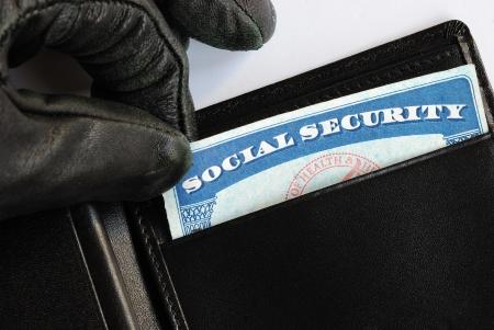 carta identit�: Concetto di sicurezza sociale furto di furto di identit� Archivio Fotografico