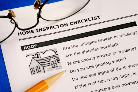 Real estate home inspection checklist and condition report Stock Photo - 15747923