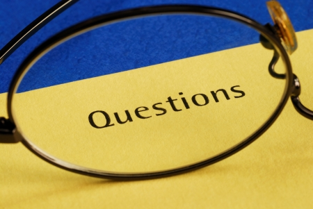 The word Questions concepts of inquiry and investigation Stock Photo - 15747914