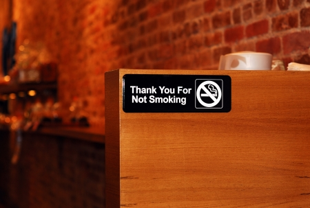 no smoking: The No Smoking sign