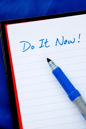 Do It Now concepts of to do list isolated on blue Stock Photo - 15748021