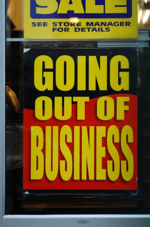 Going out of business Stock Photo - 15747961
