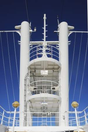 Observation tower in a cruise ship concepts of leadership and vanguard Stock Photo - 16446956