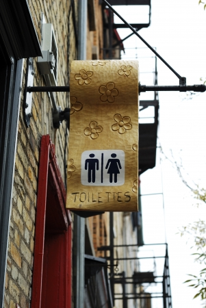 A public toilet sign concepts of restroom Stock Photo - 16328279