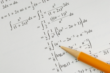 Solve a college Mathematics problem concepts of education Stock Photo - 16328265