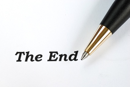 The words The End concepts of final Stock Photo - 16324610