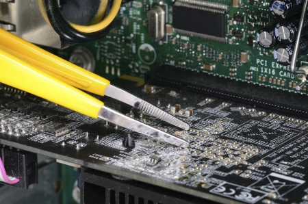 Computer technician repairing concept of troubleshooting and maintenance Stock Photo - 17264788