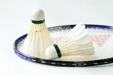 Badminton racket and shuttlecocks concept of sport Stock Photo - 17264741