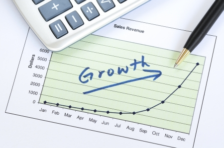 Growth in business concept of successful business Stock Photo - 17264647
