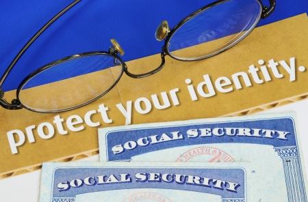 identitat: Sch�tzen Sie pers�nliche Identit�t Konzept der Privatsph�re Diebstahl