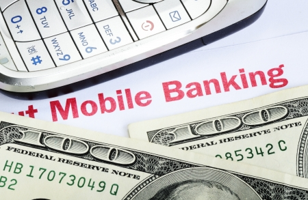 Mobile banking concept of online banking with smartphone Stock Photo - 17264785