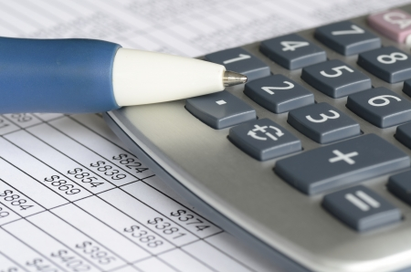 Analyzing financial data concept of accounting and auditing Stock Photo - 17264747