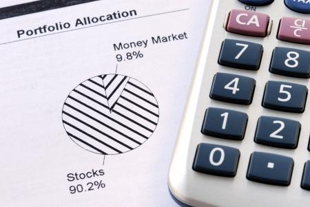 Portfolio allocation illustrates the asset in a pie chart Stock Photo - 17568322