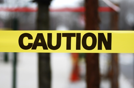 Caution sign tape concept of warning and danger Stock Photo - 17610251