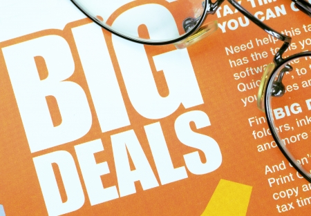 Big deals sign concept of shopping and discounts Stock Photo