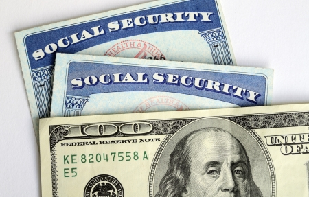 Social Security and retirement income concept of financial planning Imagens