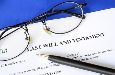 Last Will and Testament concept of estate planning Stock Photo
