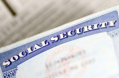 Seguridad Social y el concepto de los ingresos de jubilación de la planificación financiera y su futuro Foto de archivo - 21053342