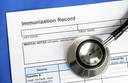 Immunization Record concept of vaccination and disease prevention