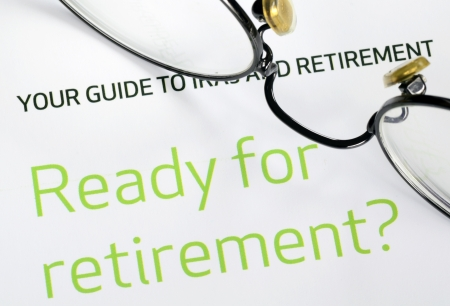 Focus on the investment in the retirement plan concept of finance and retirement Stock Photo