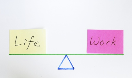 Balance work and life concept of equilibrium and lifestyle Stock Photo